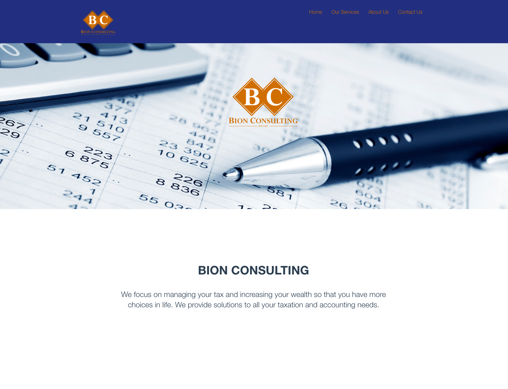 Bion Consulting website