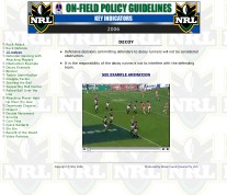 NRL On-Field Guidelines